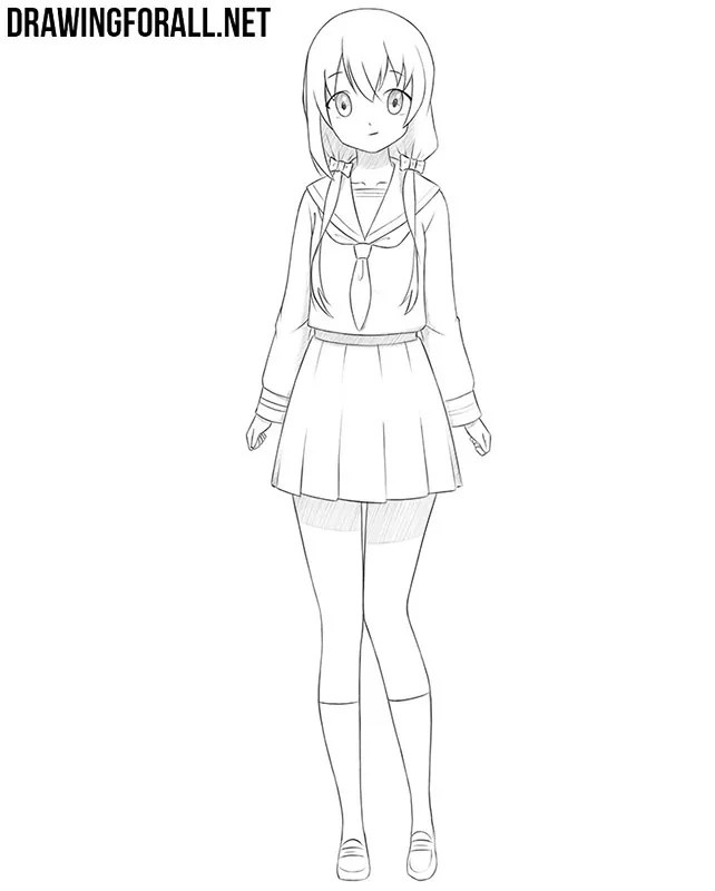 How To Draw An Anime Girl : anime, Anime, Drawingforall.net