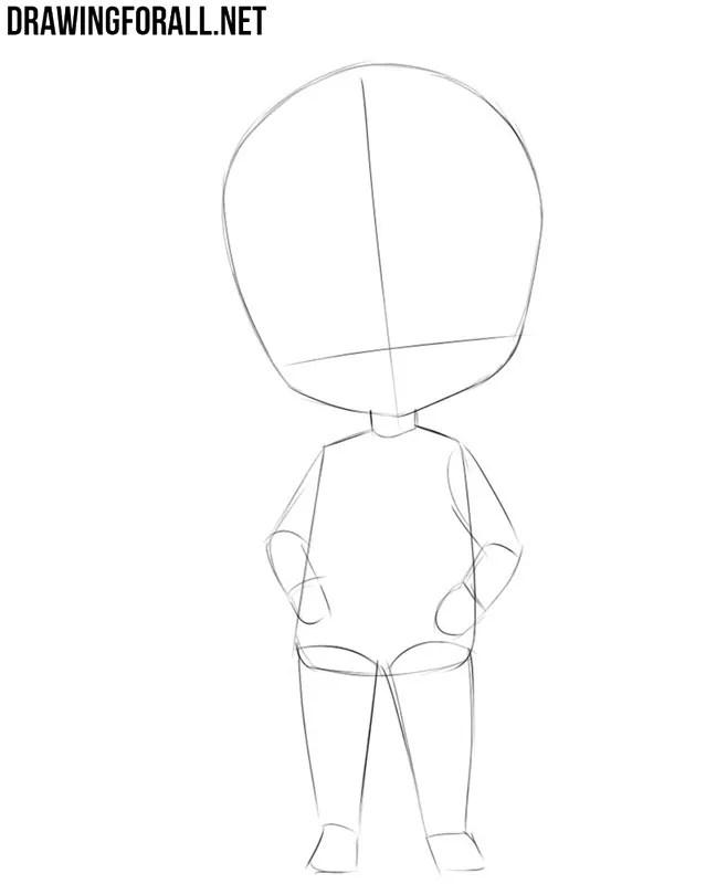 How To Draw A Chibi Boy : chibi, Chibi, Drawingforall.net