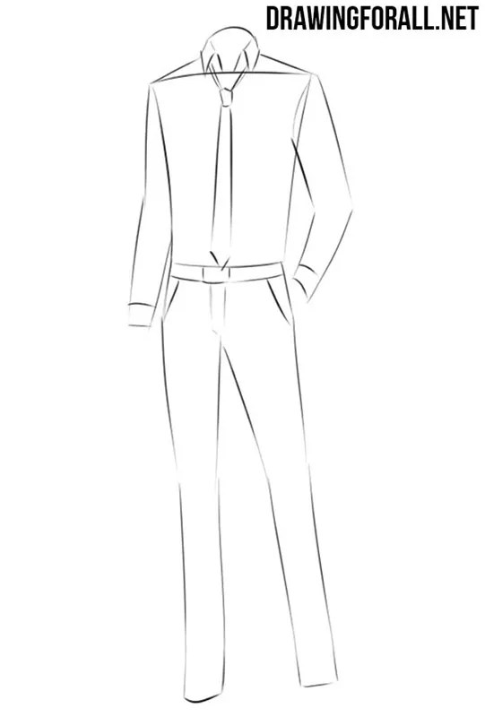 How To Draw Anime Body Male : anime, Anime, Clothes, Drawingforall.net