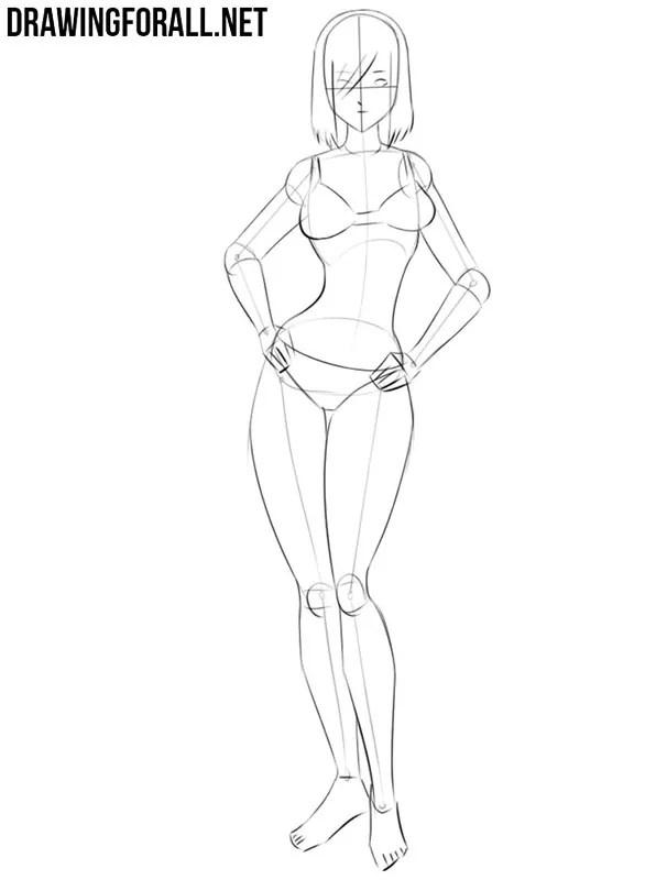 How To Draw A Body Anime : anime, Anime, Drawingforall.net