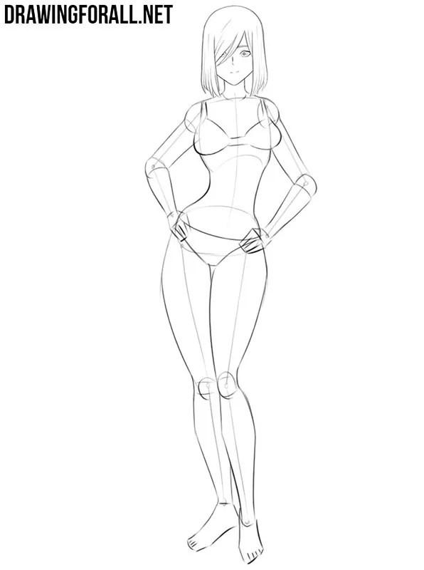 How To Draw Anime Girl Body Outline : anime, outline, Anime, Drawingforall.net