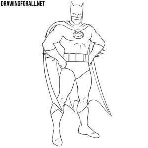 easy draw batman drawingforall