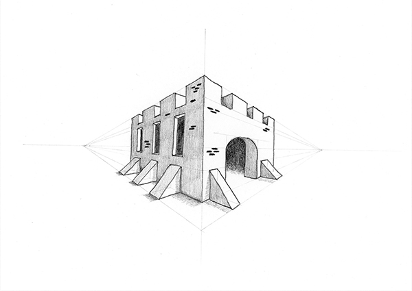 Lesson 25: A Castle in Two-Point Perspective (You Can Draw