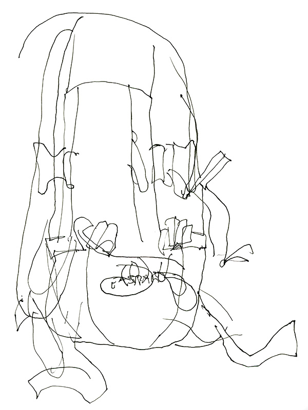 October's Blind Contour Drawings