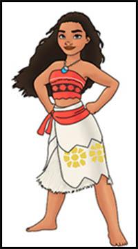 Moana Drawing Easy : moana, drawing, Disney's, Moana, Cartoon, Characters, Drawing, Tutorials, Illustrations, Lessons, Techniques, Cartoons
