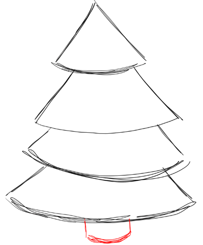 How to Draw Christmas Trees Step by Step Drawing Lesson