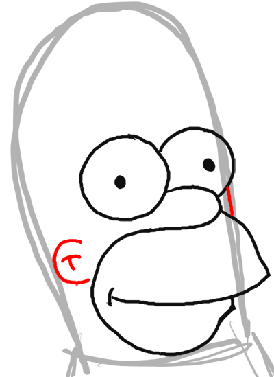 How to Draw Homer Simpson from The Simpsons : Step by Step