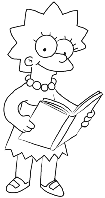 How to Draw Lisa Simpson from The Simpsons : Step by Step