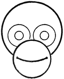 how to draw chimps