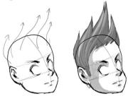 draw anime hair drawing