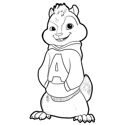 How to Draw Alvin from Alvin and the Chipmunks, the