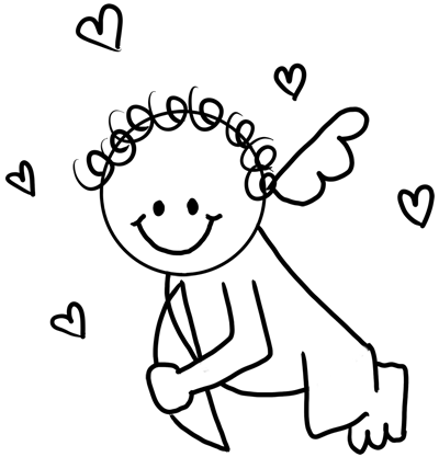 Drawing Cupid with Easy Step by Step Instructions for