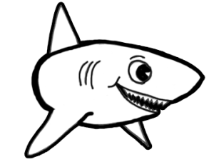 shark draw sharks cartoon drawing step easy drawings clipart lesson simple fish clip face eyes animal eye drawinghowtodraw tutorial animals