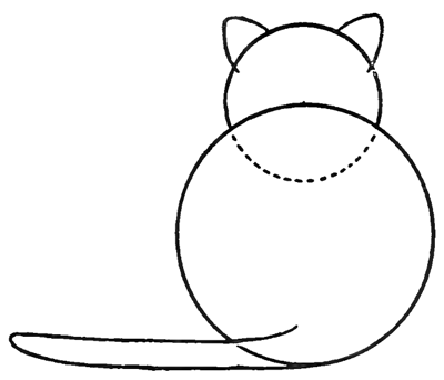 How to Draw Kitty Cats from the Back Easy Step by Step