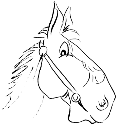 How to Draw Cartoon Horse Head / Face with Easy Step by
