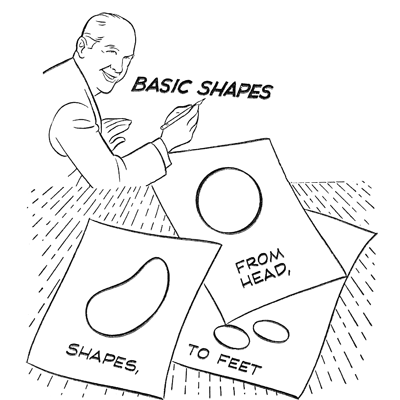 Easy Cartoon Characters to Draw with Basic Shapes for Kids