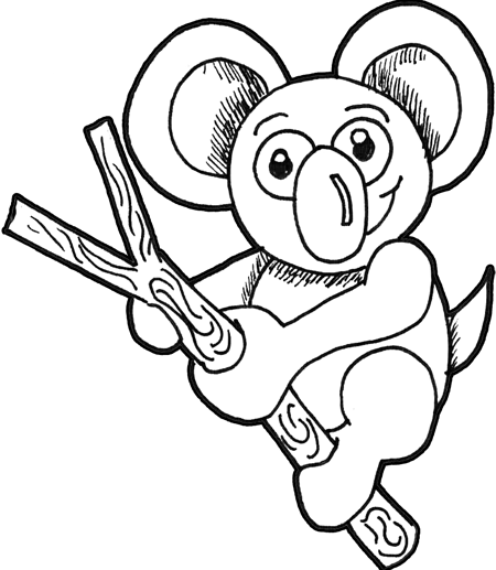 How to Draw Koalas (Cartoon Koala Bears) with Easy Step by