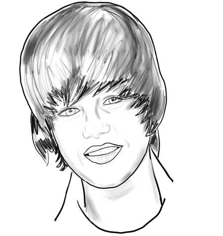 I have made a step by step Justin Bieber drawing tutorial that you can use