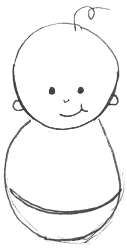 How to Draw Cartoon Baby with Easy Drawing Lesson for Kids