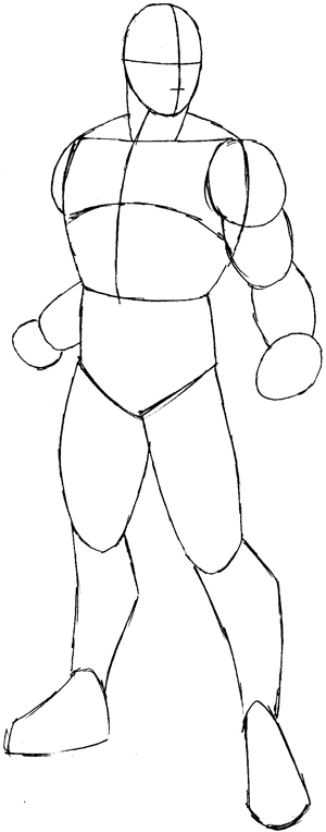 step superhero draw drawing cyclops team marvel easy steps tutorial basic legs down
