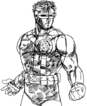 step superhero drawing cyclops draw team marvel easy steps