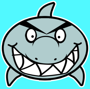 cartoon drawing shark draw easy step sharks tutorial had finished