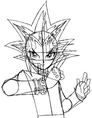 step yu gi oh drawing easy yugi draw yami tutorial mutou disk duel steps tutorials