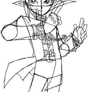 step gi yu oh drawing easy draw yami yugi tutorial puzzle millennium steps ren kylo star wars character