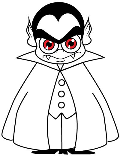 Simple Vampire Drawing : simple, vampire, drawing, Cartoon, Vampires, Halloween, Drawing, Tutorial, Tutorials