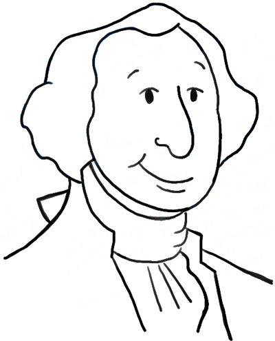 George Washington Drawing Easy : george, washington, drawing, Cartoon, George, Washington, Simple, Lesson, Drawing, Tutorials