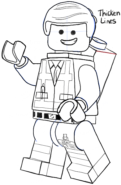 Lego Drawing Easy : drawing, Emmet, Movie, Minifigures, Drawing, Tutorial, Tutorials