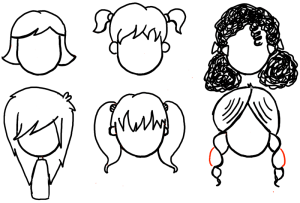 draw cartoon hair drawing drawings step characters female braids male drawinghowtodraw paintingvalley styles