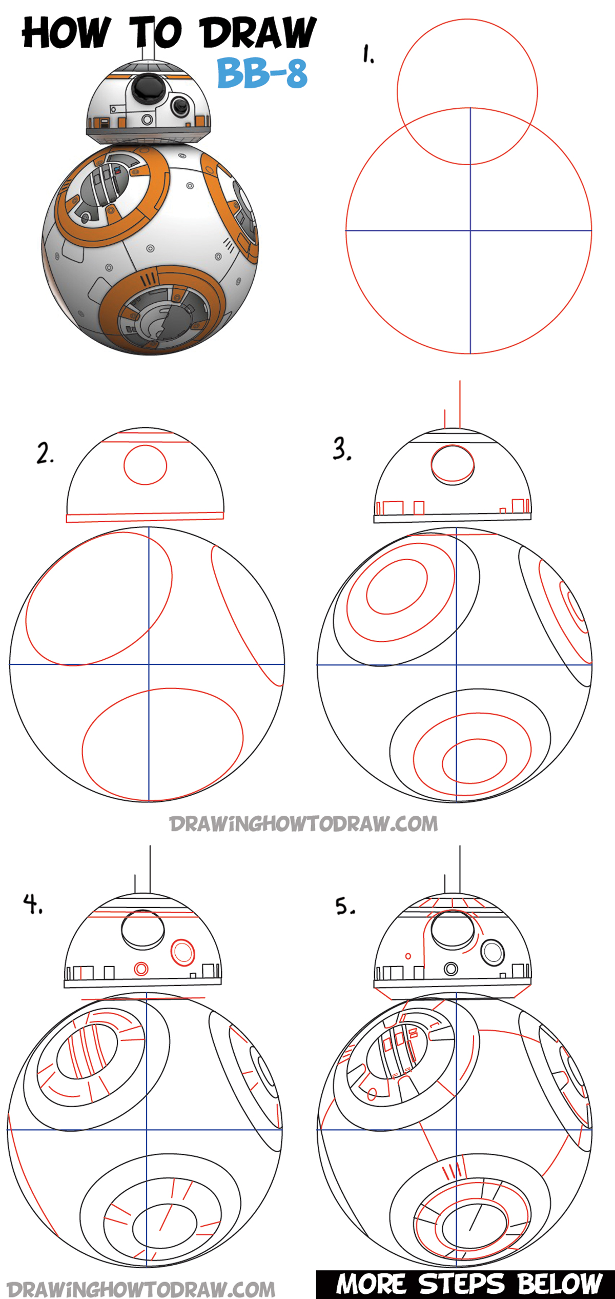 Bb8 Drawing : drawing, (Beeby-Ate), Droid, Drawing, Tutorial, Tutorials