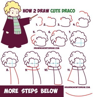 draco malfoy easy draw drawing step chibi kawaii potter harry tutorial drawings cartoon characters simple drawinghowtodraw steps doodle zeichnen known