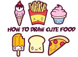 kawaii draw drawings easy drawing step dibujo cartoon comida faces zeichnungen bebida pizza tutorial gesichtern drink dibujos garabateados