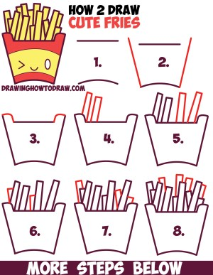 step draw easy drawings kawaii drawing french fries face tutorial something illusions optical awesome really tutorials tekenen drawinghowtodraw steps stap