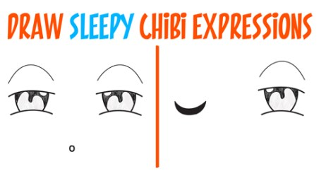 How to Draw Tired / Sleepy / Exhausted Chibi Expressions Easy Step by Step Drawing Tutorial for Beginners How to Draw Step by Step Drawing Tutorials