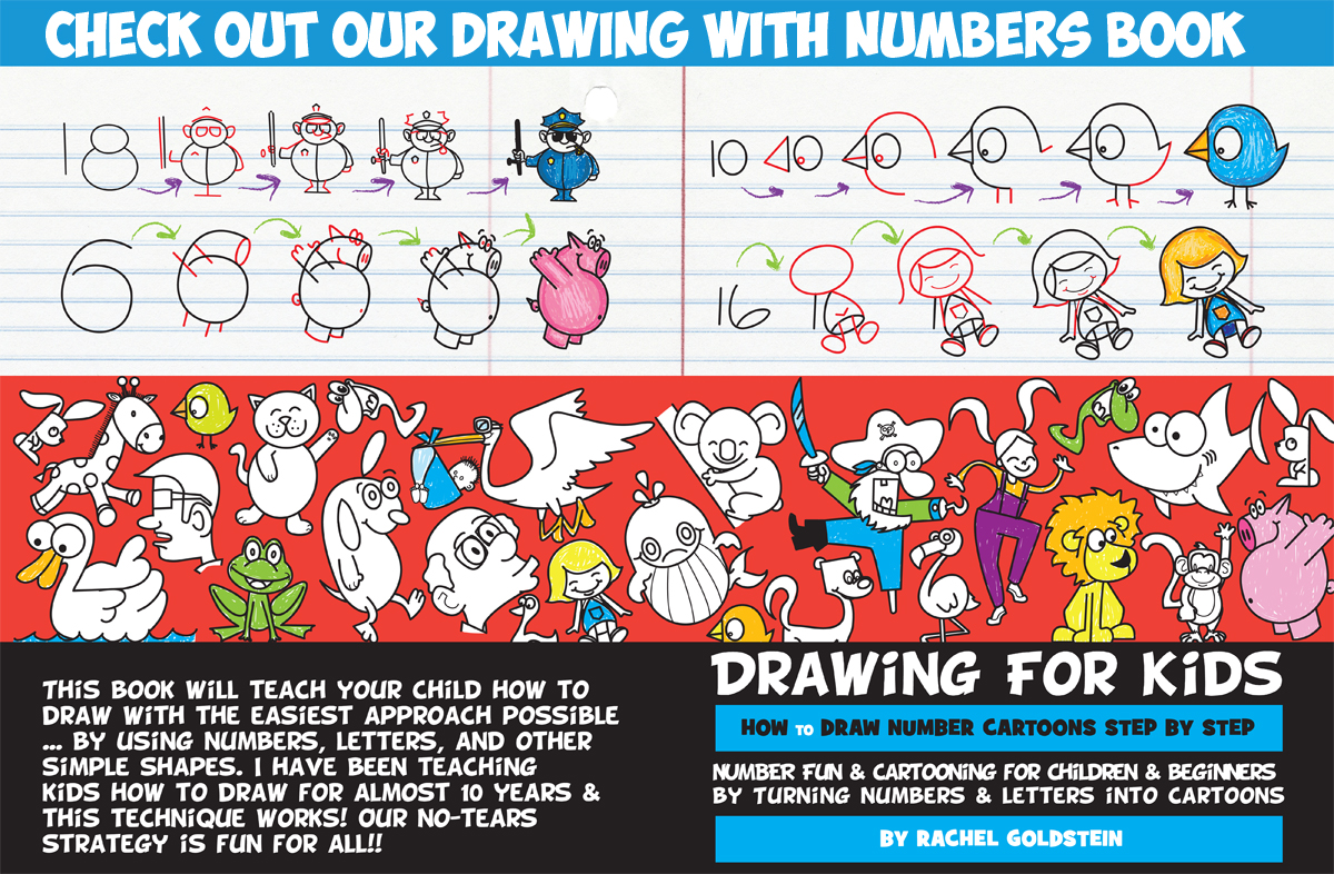 Easy Drawing Using Numbers How To Draw Cute Cartoon Bird From