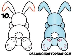 bunny rabbit drawing cartoon step easy sleeping shape draw simple preschoolers tutorial steps easter drawings pencil drawinghowtodraw clipartmag getdrawings lesson