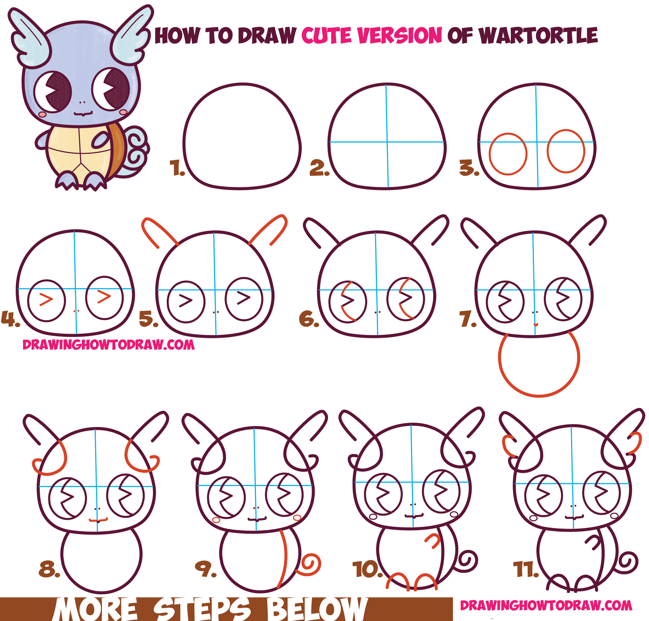 Easy Pictures To Draw For Beginners Step By Step How To Draw Cute