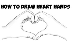 hands heart drawing draw beginners easy step tutorial valentines drawings shape simple holding valentine making shaped drawinghowtodraw steps cool follow