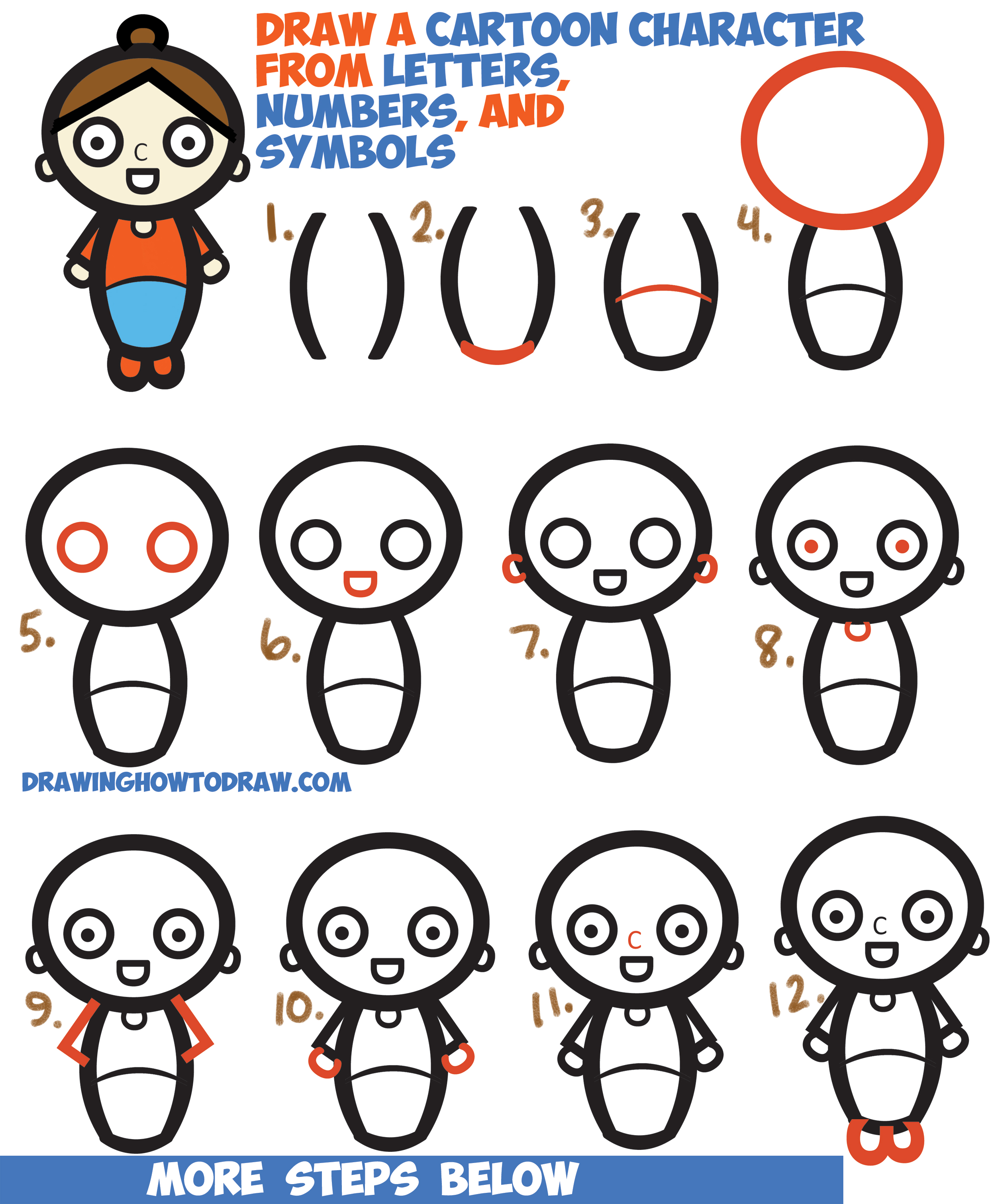 Easy Drawing Tutorials Cartoon Characters How To Draw Hiro Easy