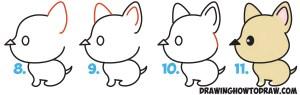 draw step dog easy drawing cartoon drawings kawaii arrow simple tutorial steps getdrawings learn drawinghowtodraw modern head animal beginners children