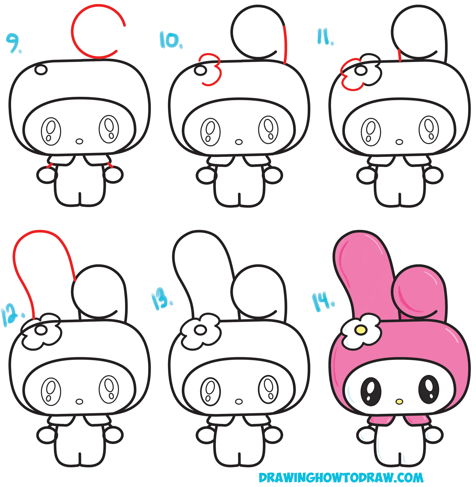 Easy Drawing Of Hello Kitty Hello Kitty Pencil Pouch From A T
