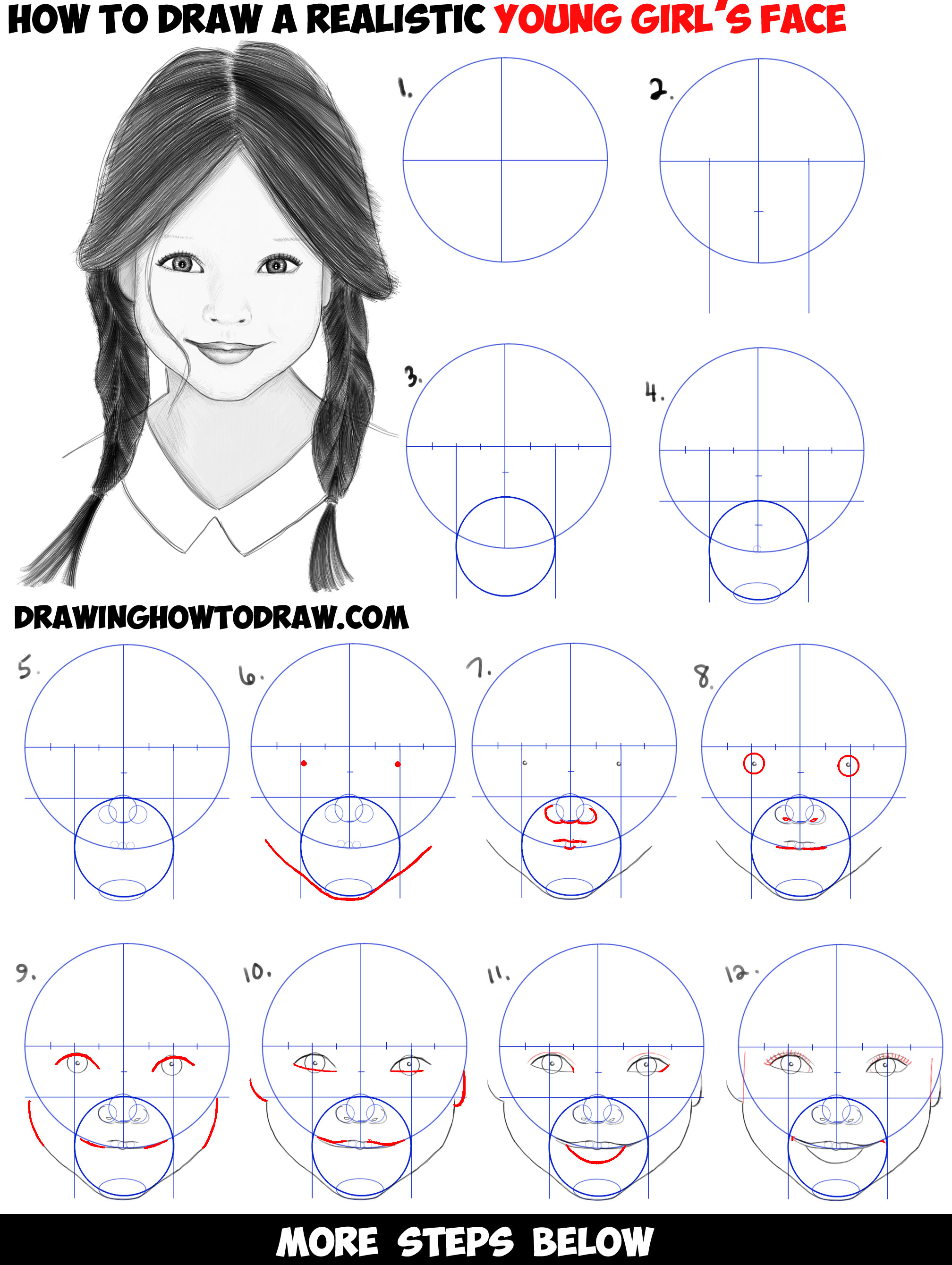 Easy Step By Step Drawing Of A Girl Sketch Of Step By Step Girl
