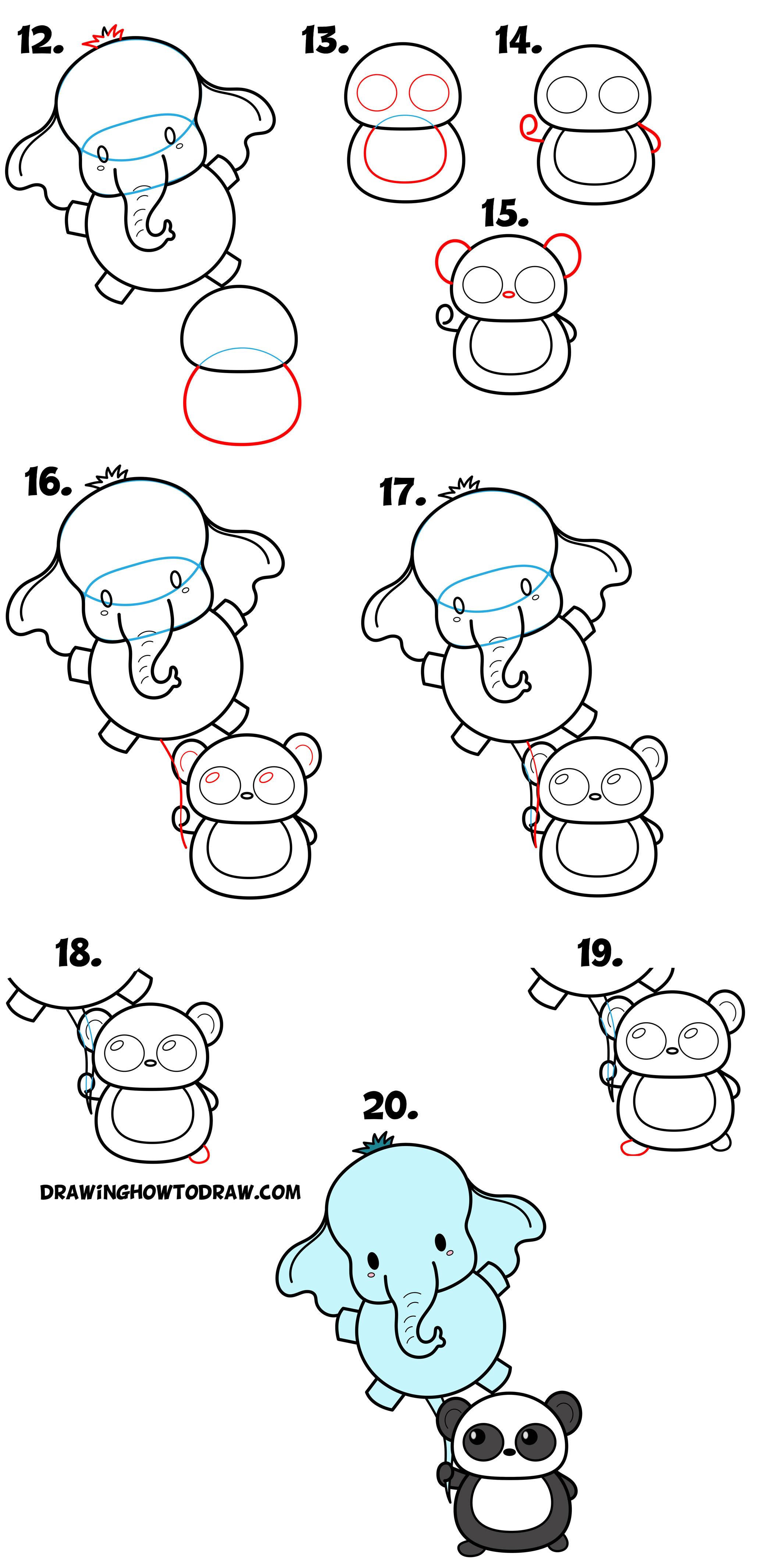 Chibi Panda Easy Cute Kawaii Drawings Www Galleryneed Com