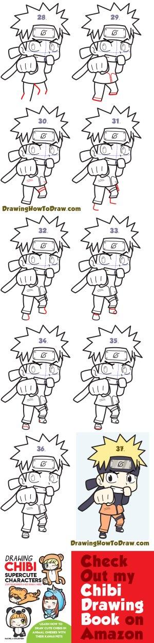 naruto draw drawing step chibi drawings tutorial easy beginners super kawaii steps manga face sketches simple lessons teenage tutorials ninja