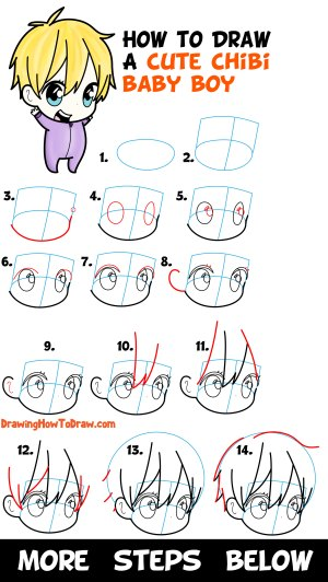 chibi boy draw drawing step easy beginners tutorial learn simple steps drawings lesson paintingvalley tutorials