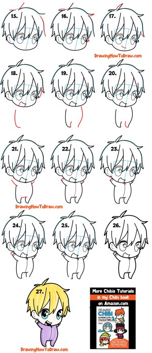 chibi boy draw drawing easy tutorial step beginners simple tutorials drawinghowtodraw steps face check