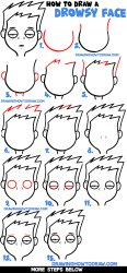 How to Draw Cartoon Facial Expressions : Drowsy Tired Feeling Sick How to Draw Step by Step Drawing Tutorials
